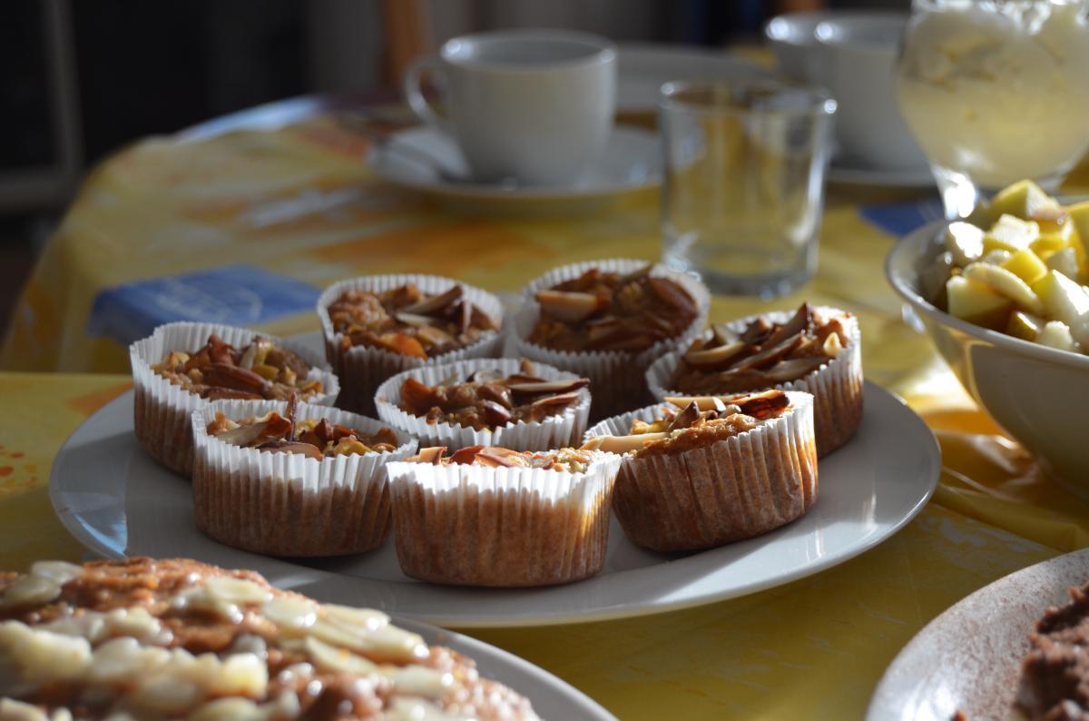 Apfel-Muffins mit Mandeln