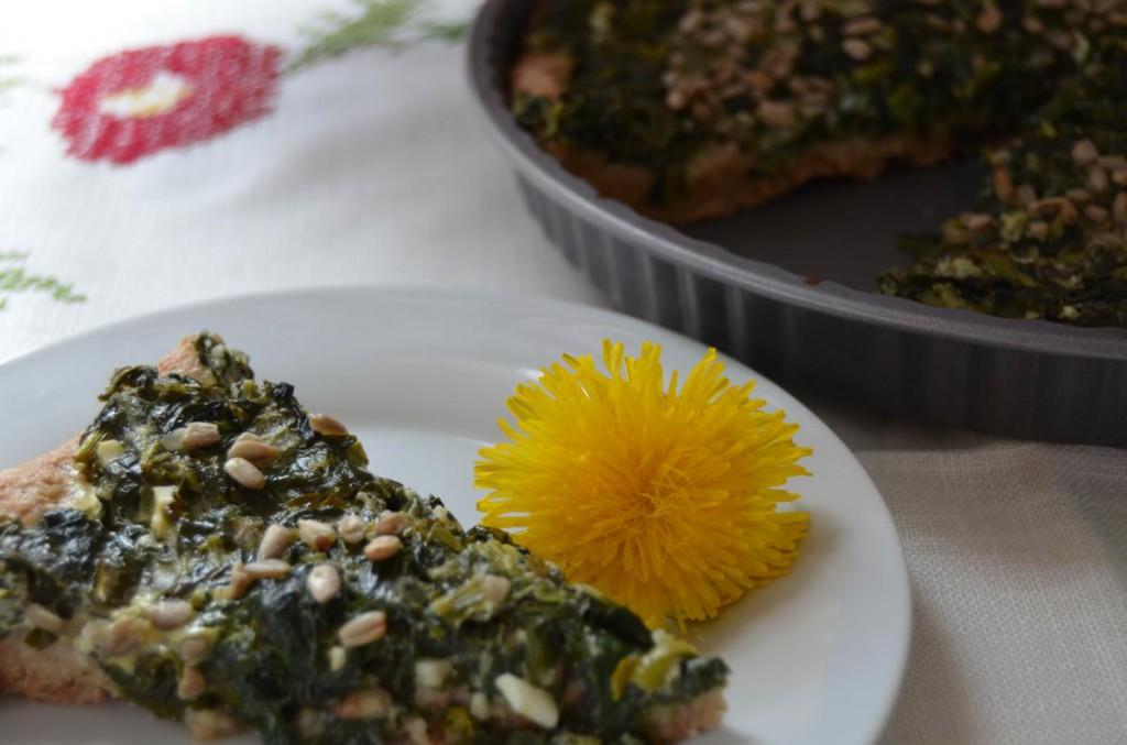 Quiche mit Wildkräutern und Spinat