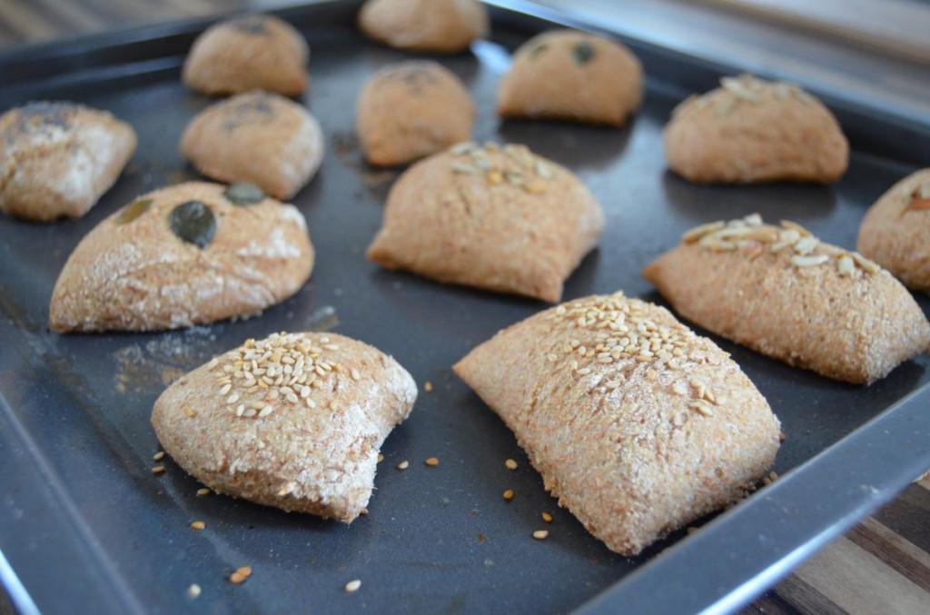 Brötchen frisch aus dem Ofen