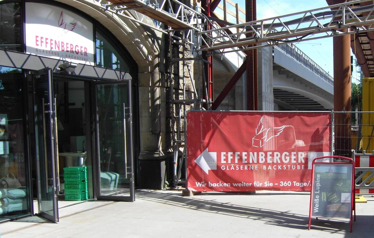 Effenberger Gläserne Backstube am Dammtor Bahnhof in Hamburg