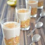 Veganes Apfel-Zimt-Dessert mit Mandelcreme
