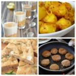 Speisen für ein veganes vollwertiges Buffet