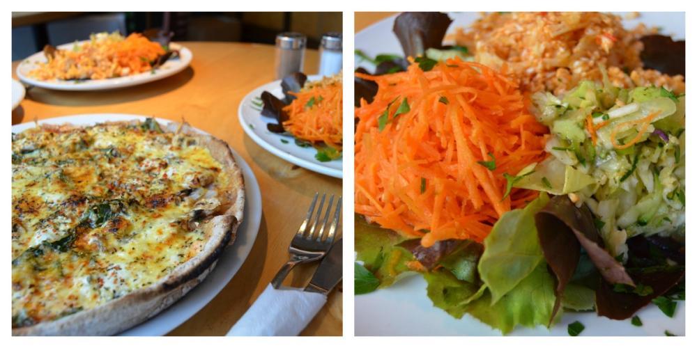 Pizza & Salatteller im Prütt Café
