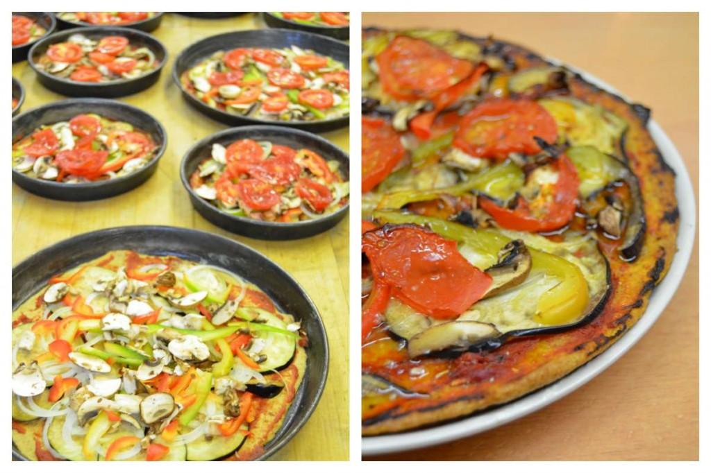 Vollwertige Pizza ohne Käse