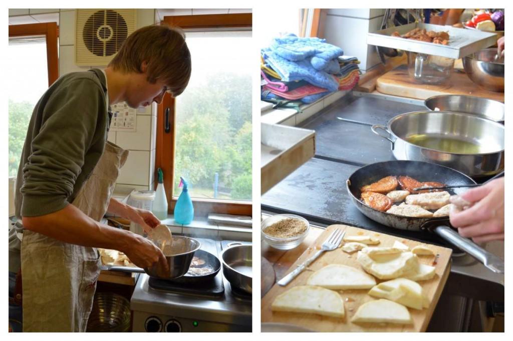 Sellerieschnitzel Zubereitung