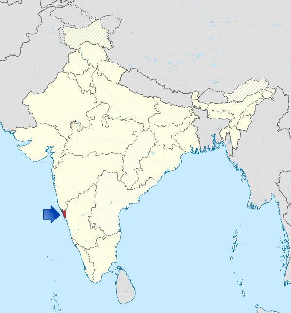 Lage von Goa in Indien