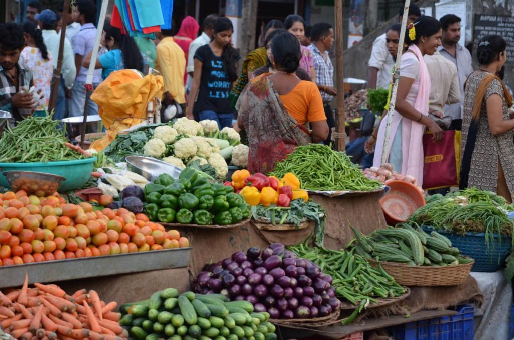 Quirliger Markt in Mapusa
