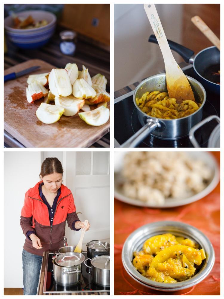 Apfelchutney Zubereitung