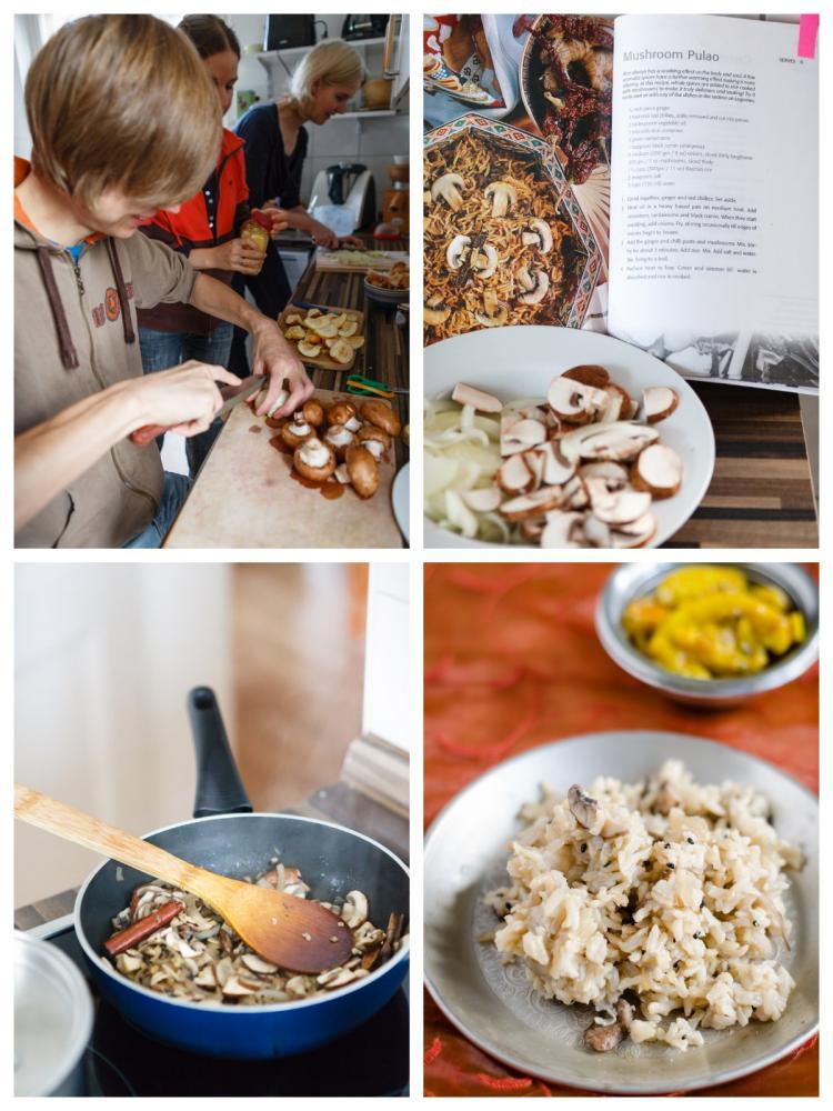 Reis mit Champignons & Zubereitung