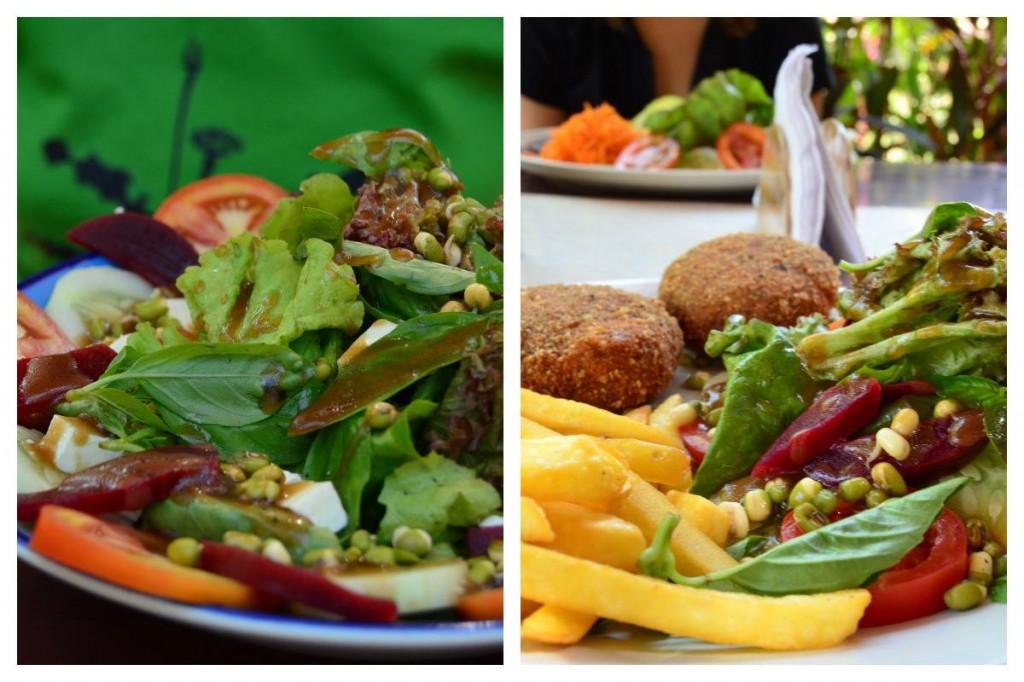Salate & Nutburger in Emmas Garden Café