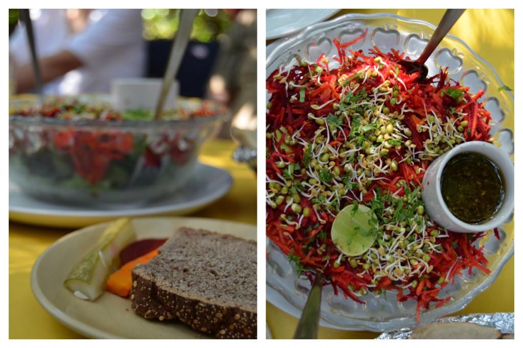 Salat und Brot von der German Bakery