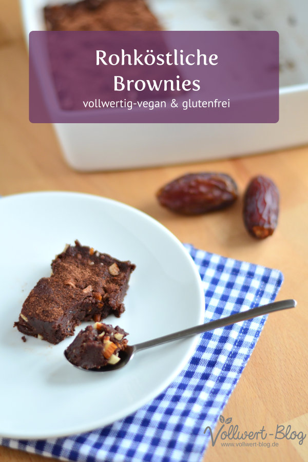 Rohköstliche vegane Brownies