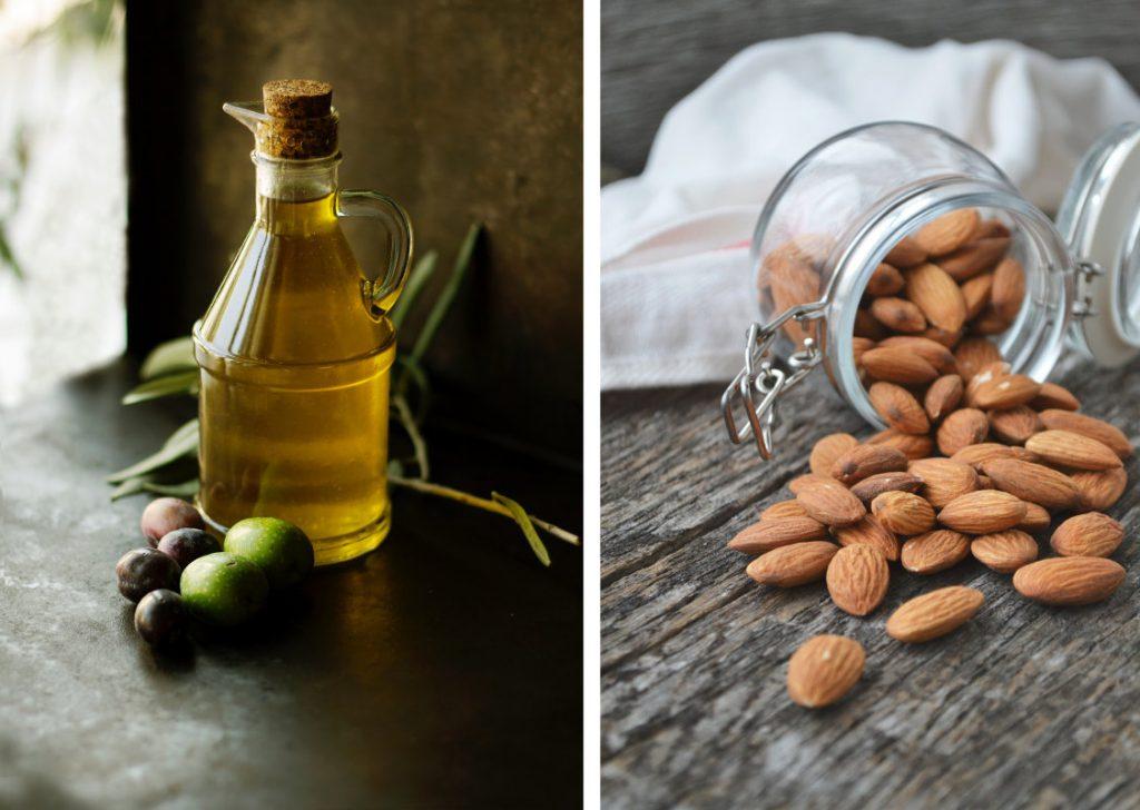 Naturbelassene Fette: kalt gepresstes Olivenöl & MandelnOlivenöl