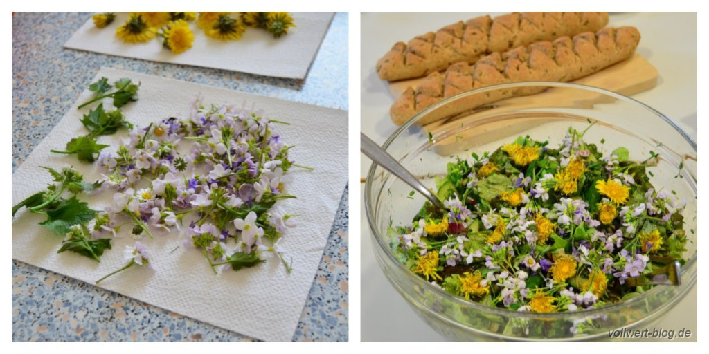 Essbare Blüten und Frühlingssalat in unserem Kochkurs