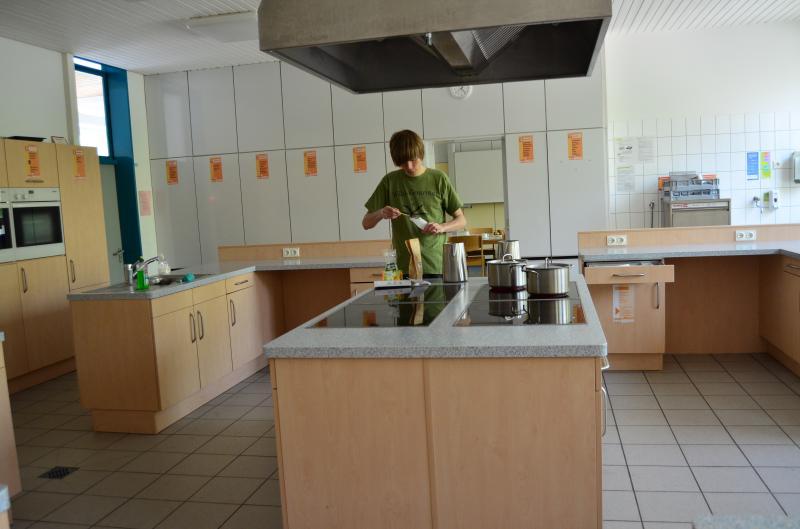 Unsere Küche - kurz bevor es los ging