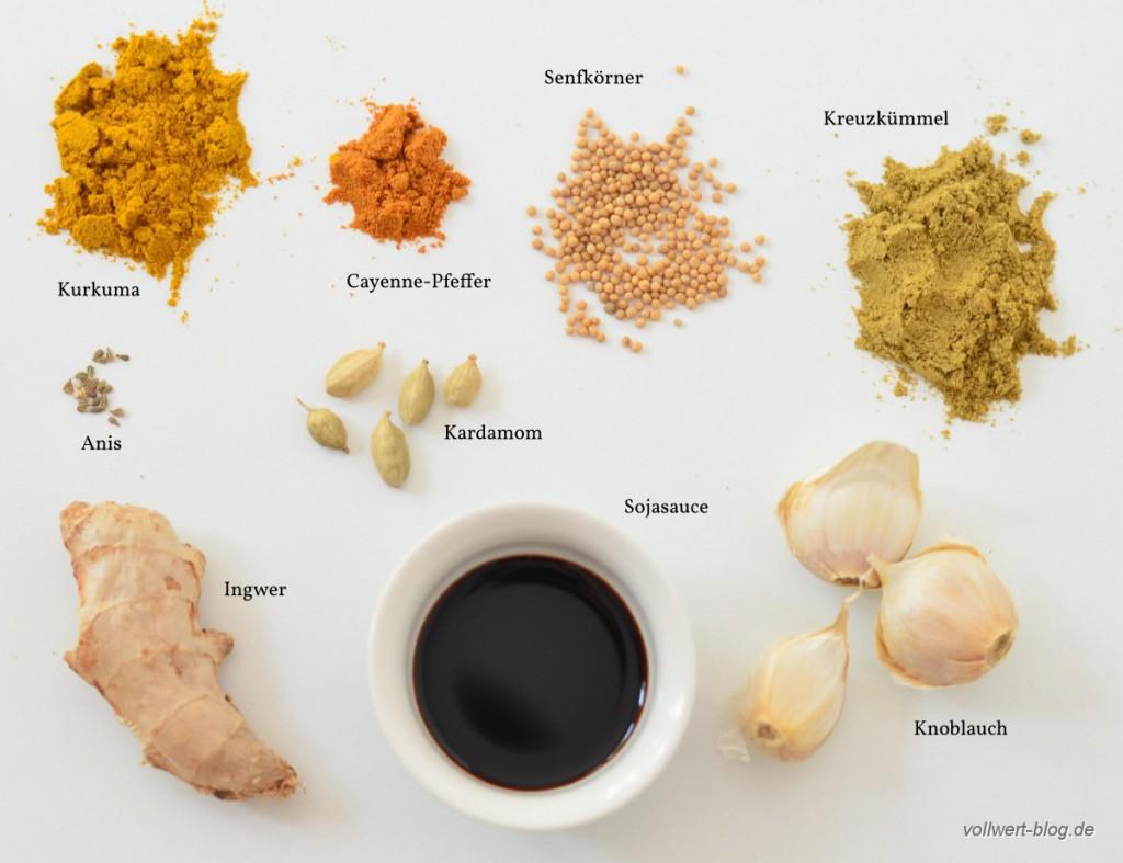 Rhabarber-Curry Gewürze