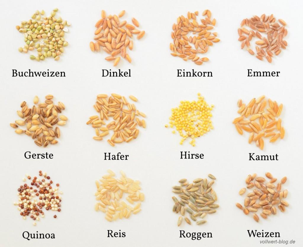 Getreideauswahl aus unserem Vorratsschrank