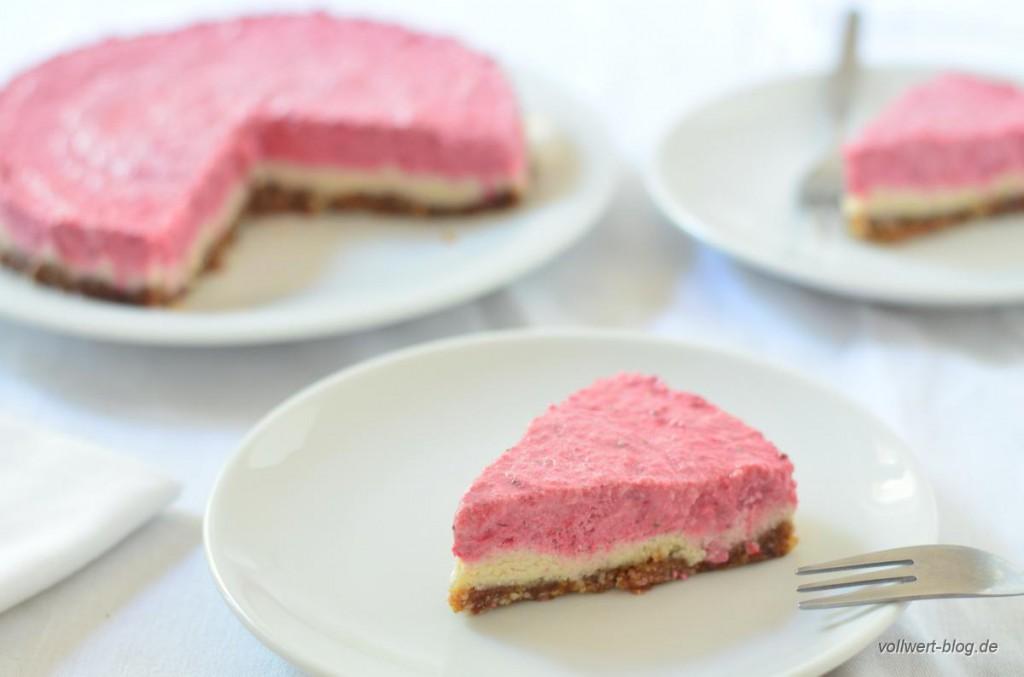 Rohkost Erdbeer-Cheesecake