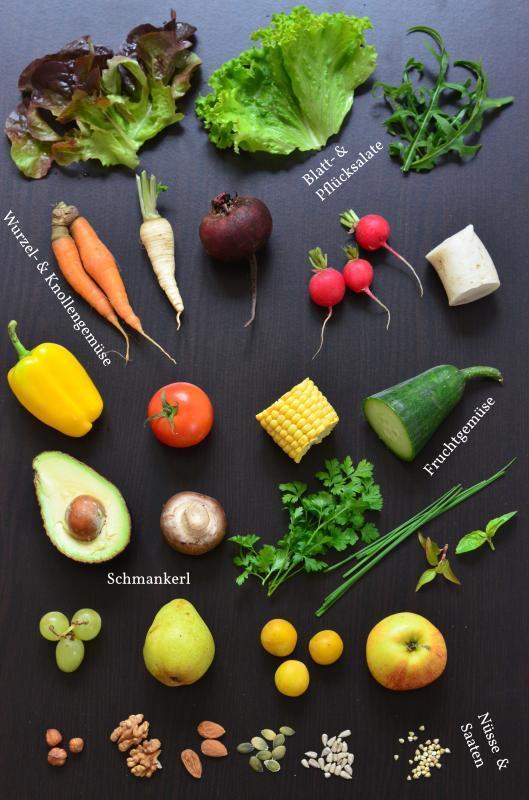 Gemischter Salat: Zutatengruppen im Überblick
