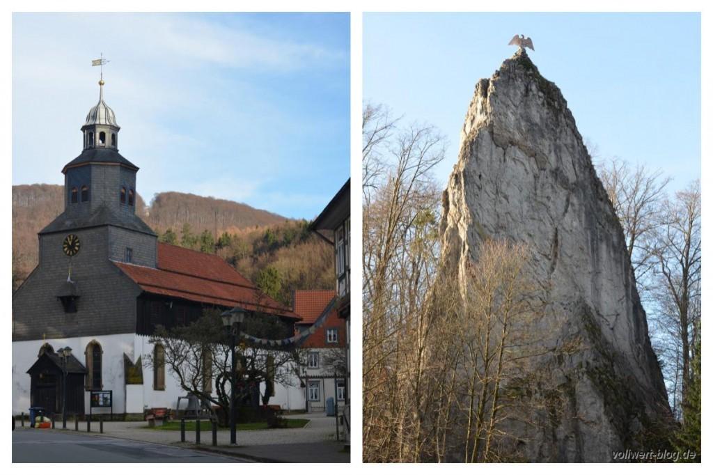 Bad Grund - Kirche und Hübichenstein