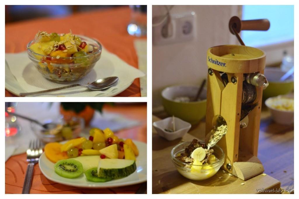 Frühstück - Obst und Haferflocken