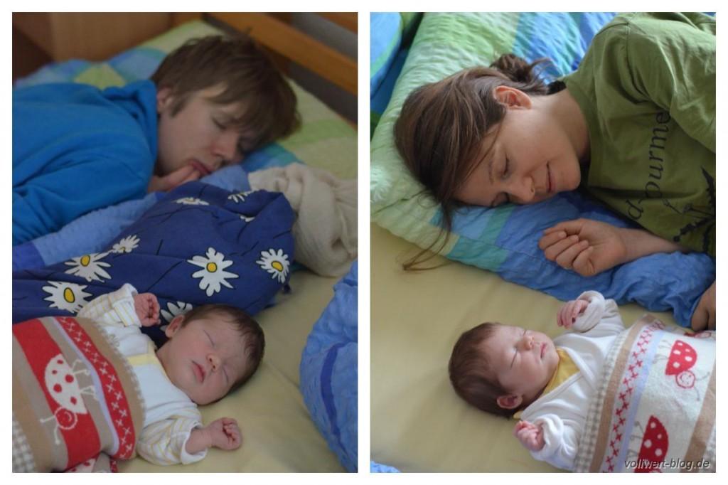 Schlafend mit Cutie