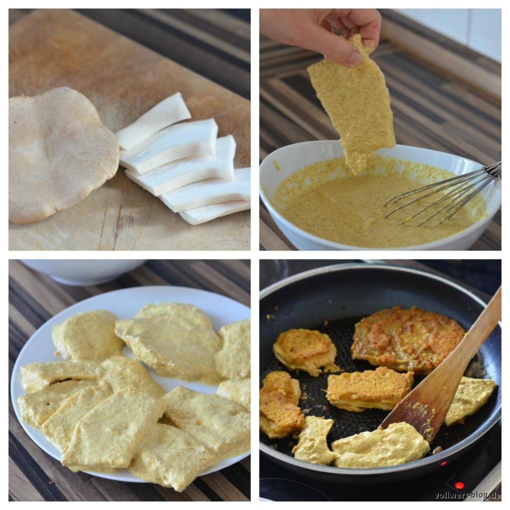 Pilzschnitzel Zubereitungsschritte