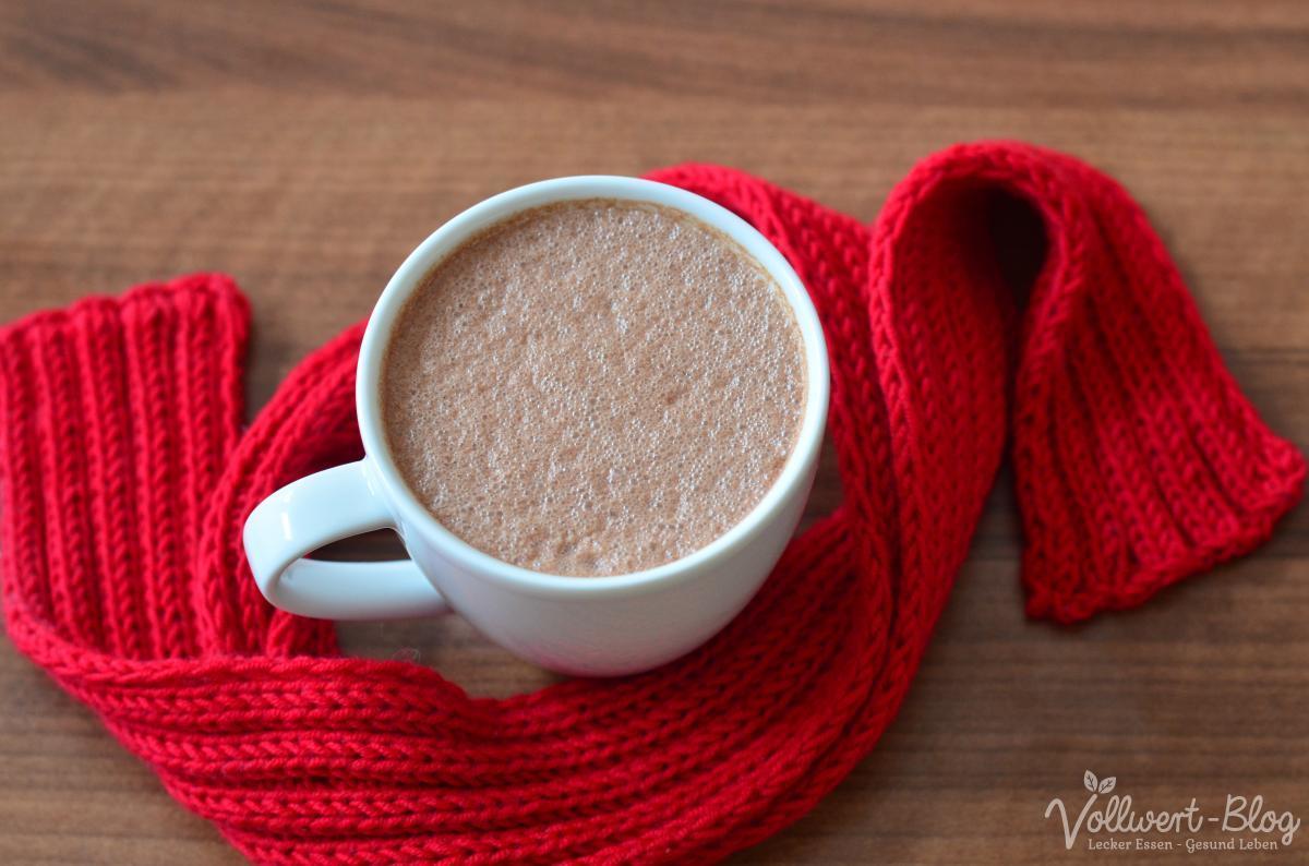 vegan-rohköstliche heiße Schokolade
