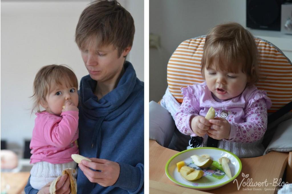 Beim Obst essen