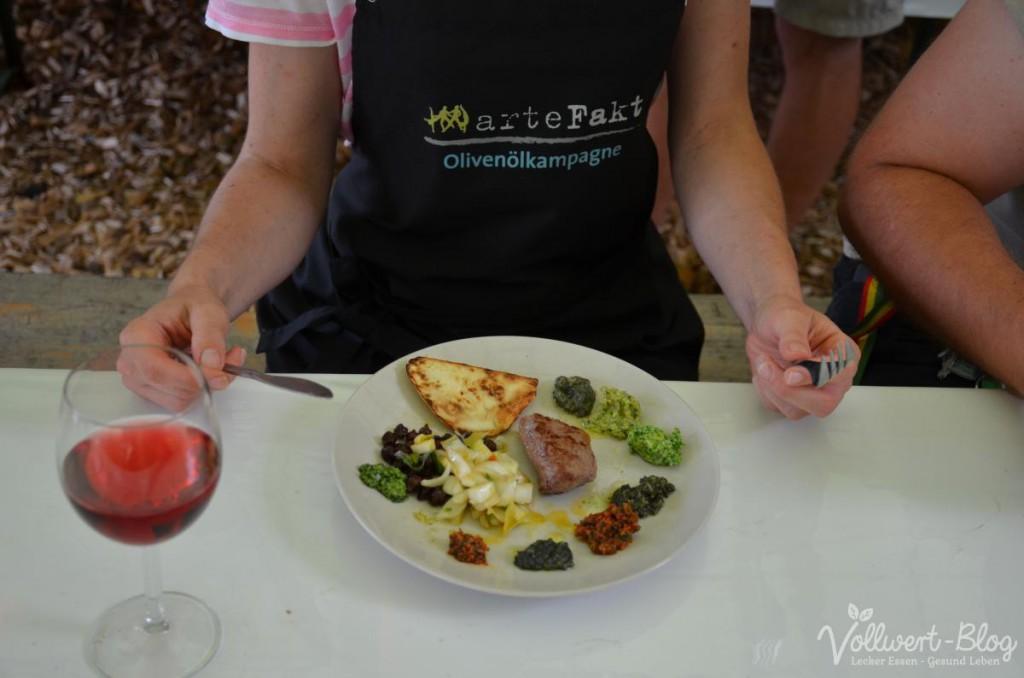 Gemeinsam gekochtes Abendessen mit Pesto & Co.