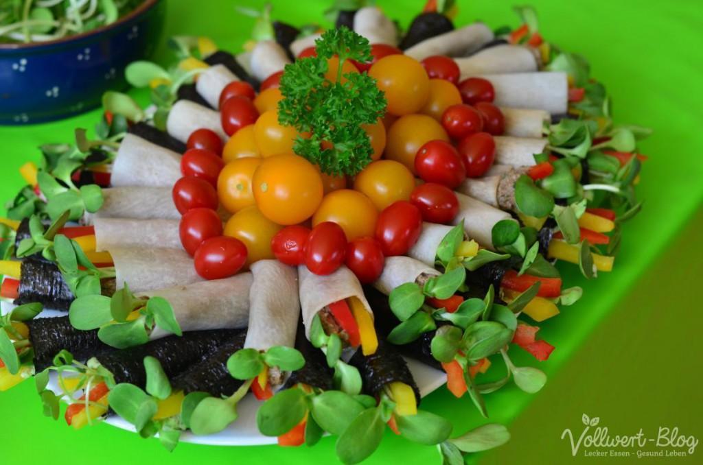 Gemüseröllchen vom Mittagsbuffet