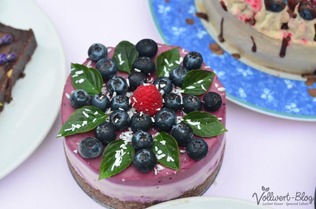 Heidelbeer-Kokos-Torte