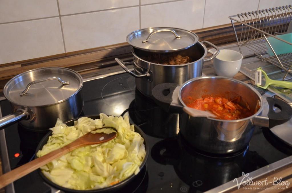 Abendessen kochen