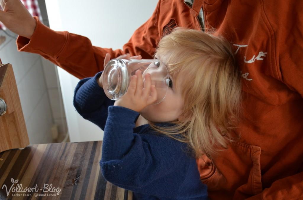 Haferflocken trinken