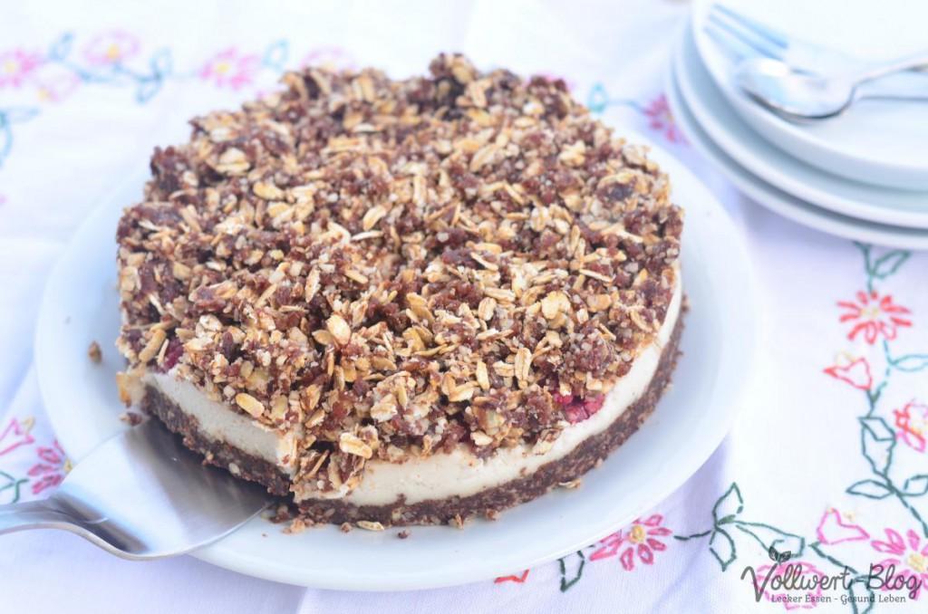 Rohkost Himbeer-Schoko-Streusel-Kuchen