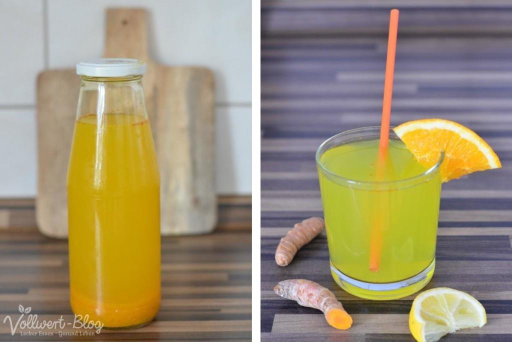Kurkuma-Limo mit Honig