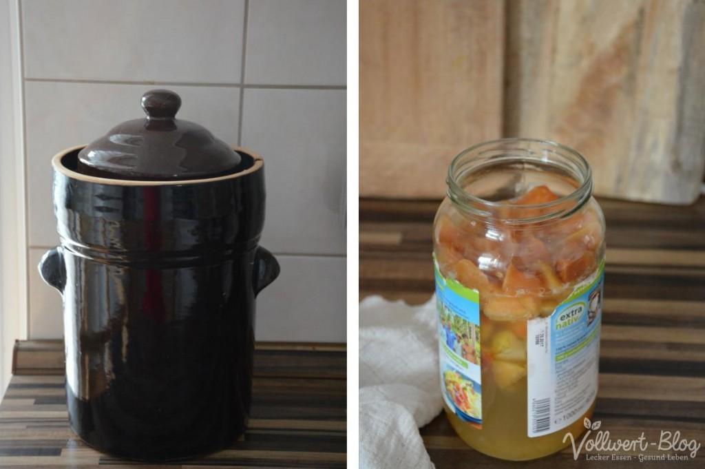 Sauerkraut & Apfelessig-Ansatz