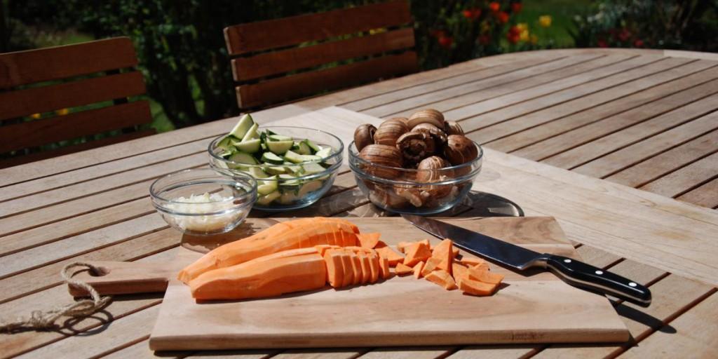 Hirse mit Mandel-Rahm-GemüseZubereitung