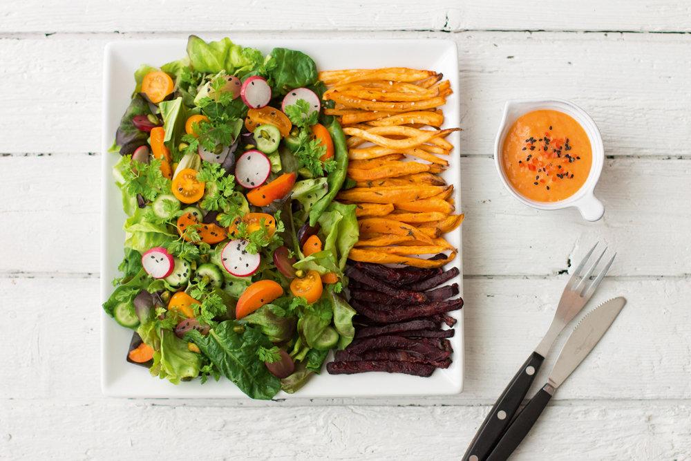 Salat mit Baobabdressing