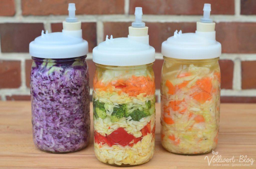 Fermentiertes Gemüse (Sauerkraut Varianten)
