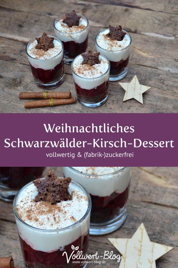 Weihnachtliches Schwarzwälder-Kirsch-Dessert