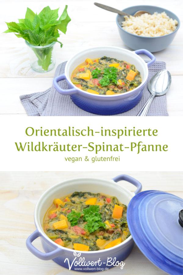 Orientalisch angehauchte Wildkräuter-Spinat-Pfanne
