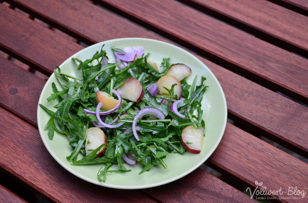 Rucola-Salat mit Pfirsich