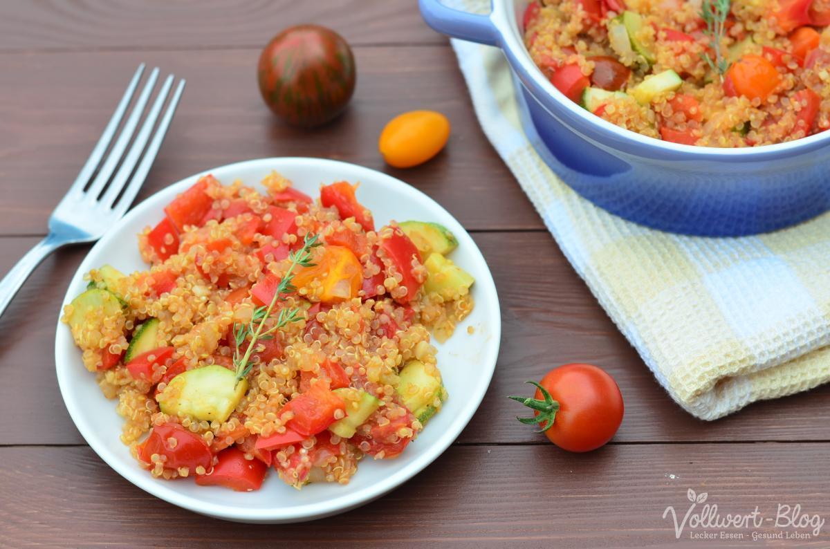 One Pot Ratatouille mit Quinoa