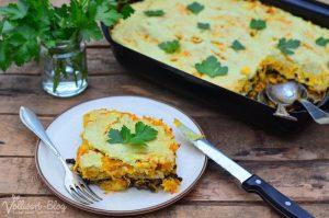 Vegetarische Lasagne mit Linsen & Kürbis