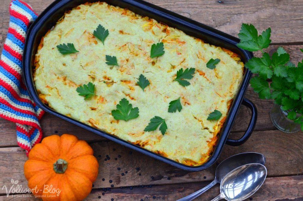 Vegetarische Linsen-Kürbis-Lasagne