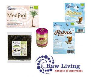 Rohkost-Produkte von Raw Living