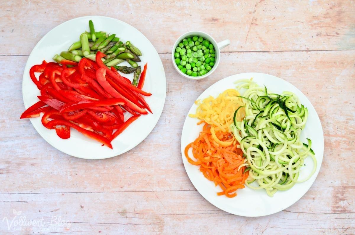 Gemüse fürs Pad Thai